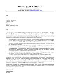 environmental biology high experience cover letter samples vault com
