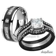 black gold wedding sets his and diamond wedding ring sets at exclusive wedding