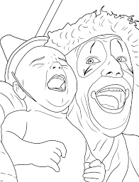 coloring pages of scary clowns killer clown coloring pages virtren com