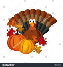happy thanksgiving card turkey icon stock vector 518580250