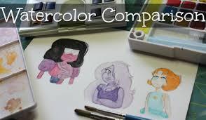 watercolor comparison sakura koi reeves and w u0026n cotman youtube