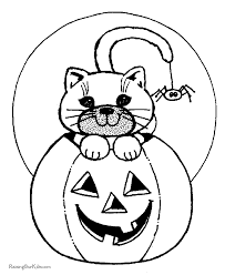 free coloring pages of a pumpkin halloween cats coloring pages cat pumpkins free coloring page
