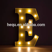 decorative led lights for home new product 2016vintage letter lights home decor single mini led
