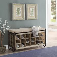 Winslow White Shoe Storage Cubbie Bench Shoe Benches