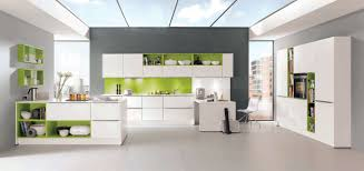 kitchen design colour schemes modular kitchen with large glass roof combined with green white
