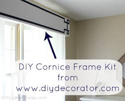 Fabric Covered Wood Valance New Window Treatments Diy Cornice Frame Kit Review Erin Spain
