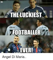 Soccer Player Meme - s5 the luckiest ronaldo footballer in ever fly 5mintul angel di