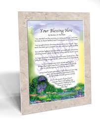 godfather u0027s birthday blessing framed personalized gift
