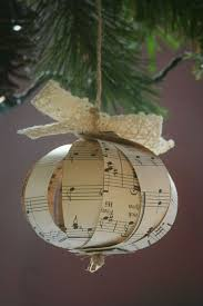 Decorate Christmas Ornaments Yourself by 10 Beautiful Sheet Music Christmas Ornaments You Can Make Yourself
