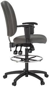 Adjustable Drafting Chair Amazon Com Harwick Grey Fabric Ergonomic Adjustable Drafting