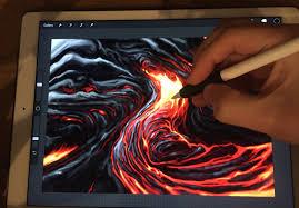 apple pencil drawing how to paint lava ipad pro 12 9 art