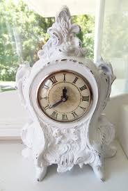 cherubs french rococo clock shabby cottage chic white home decor