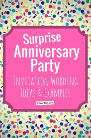 invitation wording anniversary party invitation wording allwording