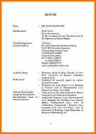 Pg Resume Format Indian Lawyer Resume Format Eliolera Com