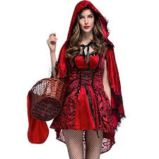 ladies red gothic little red ridding hood cosplay costumes