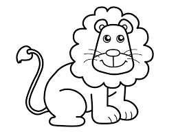 small animals lion coloring pages for kids ful printable lions