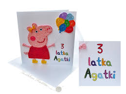 toothless knitter quilled peppa pig birthday card