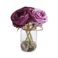 wilko pink peonies in glass jar at wilko com