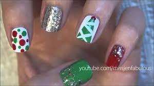 10 cute christmas nail designs easy nailart nail art designs