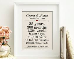 25th anniversary gifts for parents 25th wedding anniversary 25th anniversary gift 25 years of