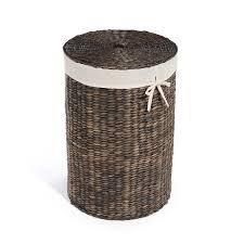 dark water hyacinth laundry basket