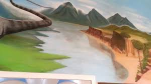 large prehistoric dinosaur mural painting youtube large prehistoric dinosaur mural painting