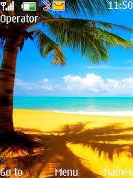 themes com download golden beach nokia theme nokia theme mobile toones