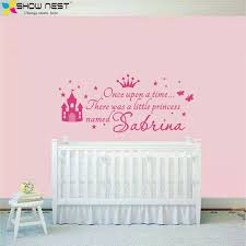 sticker pour chambre bébé personnalisé princesse fille nom stickers sticker mural pour enfants