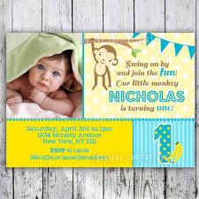 mod monkey birthday invitation 1st birthday polka dot birthday