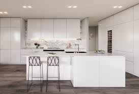 large kitchen island home design 29 white sub zero kitchen with sleek island and modern