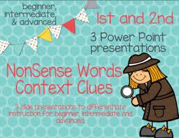 no prep no copies nonsense words for context clues power point