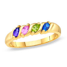 family ring family marquise birthstone ring in 10k white or yellow gold 2 6