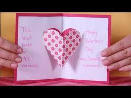 valentine u0027s day heart pop up card youtube