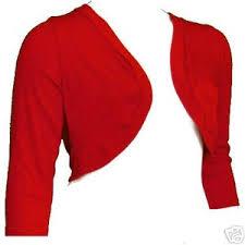 Plus Size Cropped Cardigan Io3 Red Plus Size Shrug Crop Bolero Top 3x 22 24 Ebay Ite