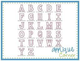 applique corner block applique font