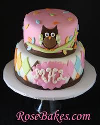 whoo loves you owl baby shower cake 2 rose bakes