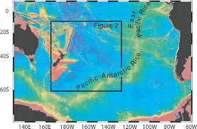 Map Of South Pacific Broad Region Of No Sediment In The Southwest Pacific Basin Geology
