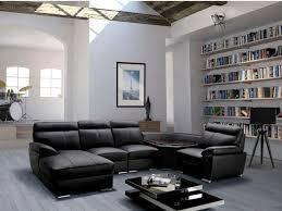 canap angle panoramique canapé d angle panoramique en cuir noir arnaud