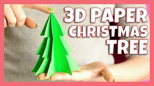 3d paper christmas tree craft christmas crafts for kids youtube