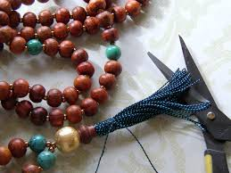 making necklace beads images Make a tassel necklace with prayer beads rings and things jpg