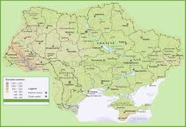 Physical Map Of China by Ukraine Physical Map