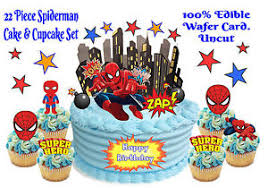 marvel cake toppers edible marvel comic wafer card stand up