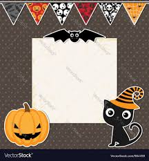 halloween party announcements cute halloween party card royalty free vector image