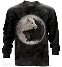 white black wolf wolves yin yang sleeve t shirt the mountain