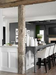 interior columns for homes this white kitchen cabinets wood floor same as the columns