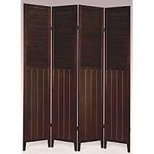 Shutter Room Divider Legacy Decor 4 Panel Room Shutter Solid Wood Divider