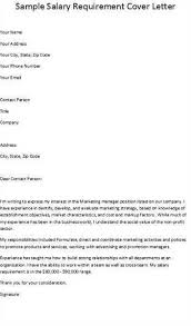 cover letter salary sample cover letter with salary requirement