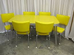 retro table and chairs for sale retro mid century 1950 s yellow chrome table 6 chairs all about