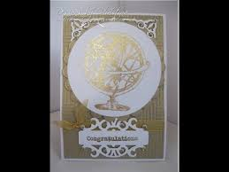 Card Making Magic - gilding flakes and stamps card making magic com youtube