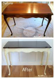 Chalk Paint Table And Chairs Update Old Wood Stained Furniture Easily U0026 Quickly Artsy